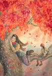 How the leaves came down by Lhox