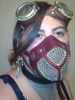 steampunck mask and googles 2 by ShamanMagic