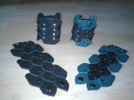 dragon scale cuffs by ShamanMagic