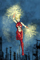The Electric Blond Bombshell by ShamanMagic
