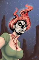 Sugar Skull Voodoo Princess by ShamanMagic