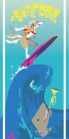 Surfdog and Trumpetshark by egypturnash