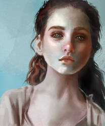 Portrait and color study by GuinevereDolls