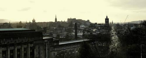 Edinburgh Old and New Town by Beachrockz4eva
