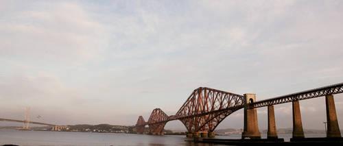 Forth Rail Bridge wide by Beachrockz4eva