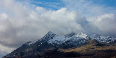 Snow covered Peaks by Beachrockz4eva