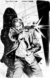 John Wick issue 2 cover B/W by GIO2286