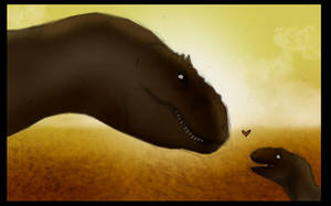 Dino sunset by JoshuaDunlop
