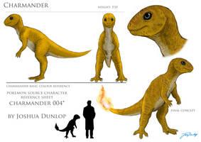 Charmander reference sheet by JoshuaDunlop