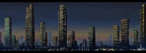 City background by JoshuaDunlop