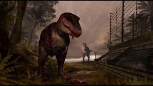 The Tyrannosaur Paddock by JoshuaDunlop
