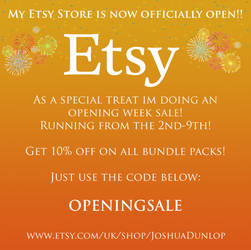 Etsy Store is now open! by JoshuaDunlop