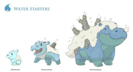 Fake water starters 1 by JoshuaDunlop