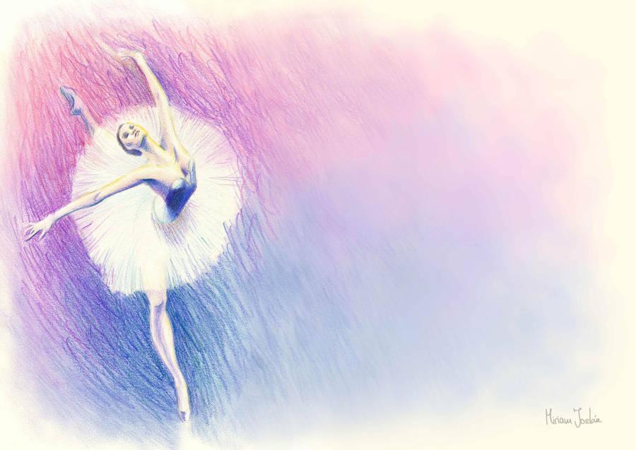 Bailarina, ilustracion metodo by zetsubou-akane