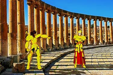 Dohko vs Gilgamesh 001 by EvilEliot
