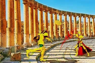 Dohko vs Gilgamesh 002 by EvilEliot