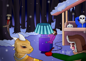 Free time in Snowdin Forest by UFGP