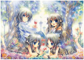 Pyrokusajishi's OC family by emperpep
