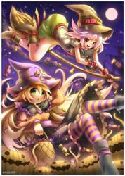 Blair and Sabrina : Halloween by emperpep