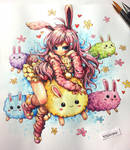 cotton bunny : xpsqxanimexart by emperpep