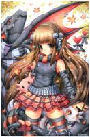 Watercolor : SrtaAiko by emperpep