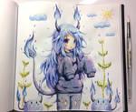 Kitsuruu's Demon girl by emperpep