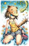 Scilk : Bear Girl and Snek by emperpep