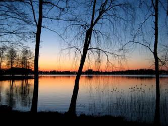 A Swedish Sunset Scenery by woAaAow