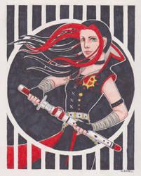 Art Trade: Alaina by Blue-Moon-Rabbit