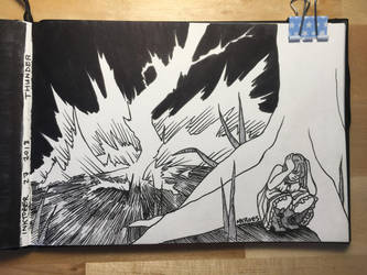 Thunder | INKTOBER 2018 by Just-a-Bud