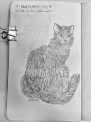 A Cat with Feathers by Just-a-Bud