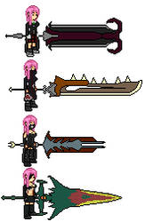 eo monster hunter 3 g swords by microw
