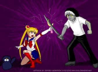 ARTrade Sailor Moon Vs Shadow by SailorEnergy