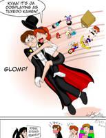 JA gets Glomped on by SailorEnergy