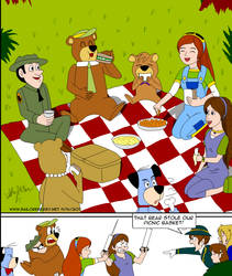 artrade Picnic with Yogi Bear by SailorEnergy