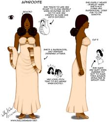 Character Design Diagram Aphrodite by SailorEnergy