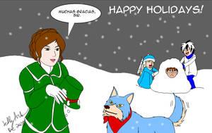Snowy Counterattack  For Fruitbatslyra by SailorEnergy
