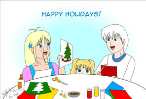 09 Children making Xmas Cards Gift for P.SilverFox by SailorEnergy