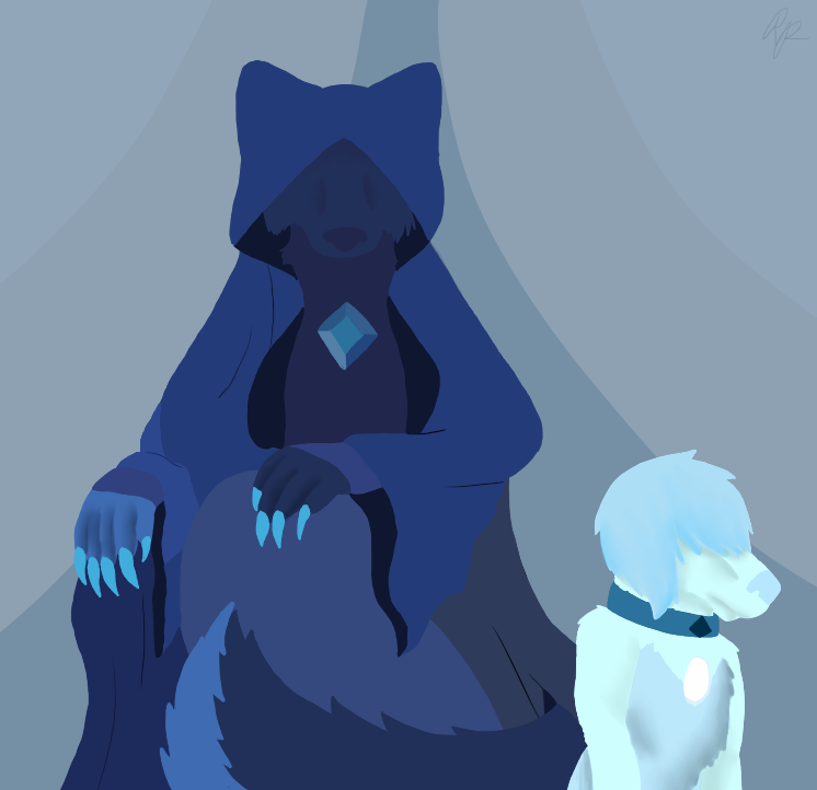 SU Canines: Blue Diamond by rexyplexy