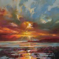 Sunset Over Rum by NaismithArt
