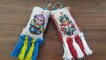 My Dragon Quest XI OTP Character Pillow Keychains by LadyofHeliodor