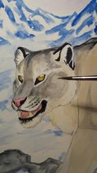 Snowleopard wip by TheKarelia