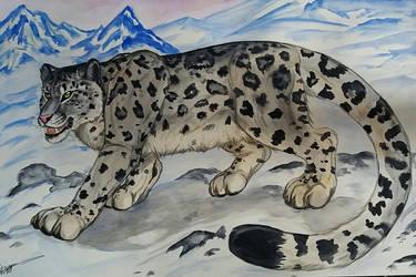Snowleopard by TheKarelia