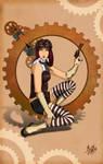 Steampunk Babe by ochie4