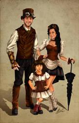 Rubicle Steampunk Family Portrait by ochie4