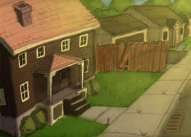 Suburban Background by Stnk13
