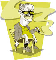 OldManCigarTShirtDesign by Stnk13