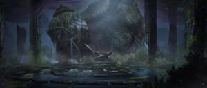 Atlantis Throne Room by AdamRoush