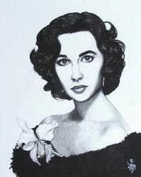 Elizabeth Taylor by Rosentod