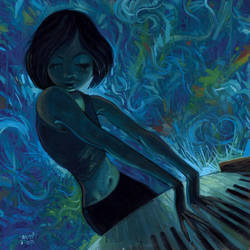 Keyboard Girl by jasinski